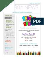 weekly newsletter-mar 5 -mar 9