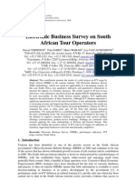 Electronic Business Survey on South African Tour Operators