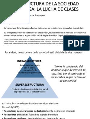 La Estructura De La Sociedad Burguesa Friedrich Engels