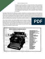 Historia de La Máquina de Escribir