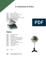 Elementos de Laboratorio de Física Nombres
