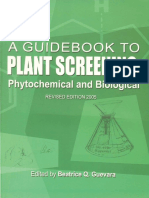 A Guidebook to Plant Screening- Phytochemical and Biological