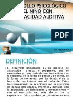 Desarrollo Psicologico Del Nino Con Discapacidad Auditiva Lic. Hilda Chavez