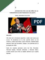 2016.12.06 Sesión 482 Años Fundación San Francisco de Quito 11 1