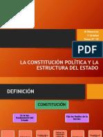 4º FCC.- Tema Nº 18.- La Constitución Política y Estructura Del Estado