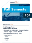 Administrative Details (Fall Semester), MPP September Cohort