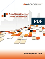 Asia Construction Costs Summary 2016