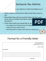 End of Year Activity Time Capsule Letter to Someone You Admire