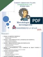 1. Metodología de La Investigación 2018