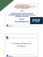 Beneficios de La Sustitucion de Petroleo Residual Por Gas Natural en Calderas de Vapor
