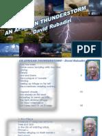 Rubadiri d. an African Thunderstorm Powerpoint Presentation