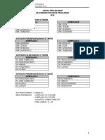 Draf Jadual Perlawanan Kejohanan Hoki MSSB Pedalaman 2018 (Pilihan E)