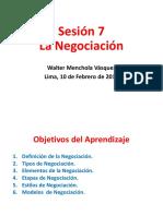 Sesión 7 La Negociación