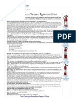 Fire Extinguishers-Classes, Types and Use