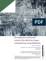 Investigación en educación artística. Más allá de los riesgos, la búsqueda por las posibilidades.pdf