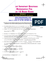 Guess Paper Class 12 Maths Important Questions