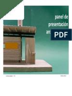 Panel de Presentación Arquitectónica