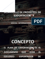 Desarrollo de Proyectos de Exportación