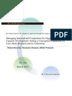 Managing International Cooperation for Organizational