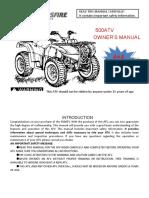 Crossfire Rubicon 500cc ATV Service Manual