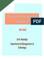 Organizational Behavior Lec 1