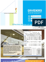 Azazo Dividers Sliding Walls Catalogue