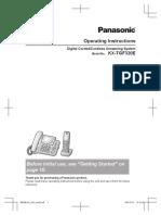 Panasonic KX-TGF320E - User Manual