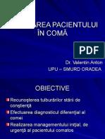Abordarea Pacientului in Coma