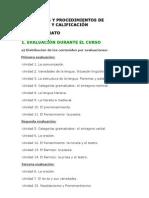 CONTENIDOS Y PROCEDIMIENTOS DE EVALUACIÓN Y CALIFICACIÓN