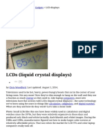How Do LCDs (Liquid Crystal Displays) Work