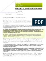 m2cs - 2 Algebra - Ejercicios y Problemas Sistemas de Ecuaciones