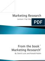 Marketing Research Lecture 2