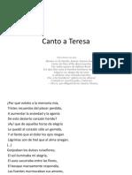 Canto a Teresa Fragmentos