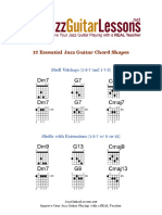Jazz Guitar 12 Essential Chord Shapes