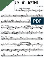 Verdi La Forza Del Destino Clarinet