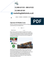 Operator K3 Mobile Crane