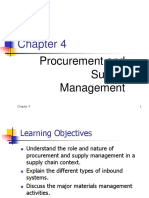 Chapter 4 Procurement Supply Mgmt