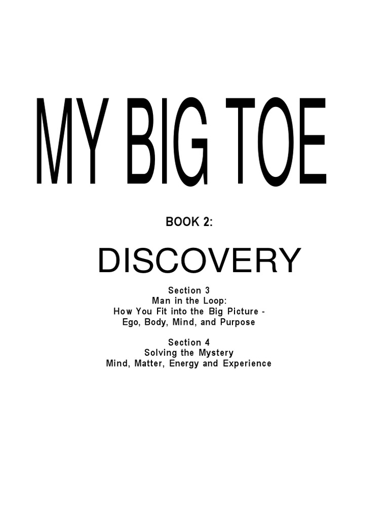 my big toe book 2 discovery thomas campbell pdf reality