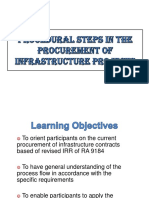 Procedural Steps Procurement of Infra Projects