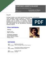 Curriculum Santiago Landeta
