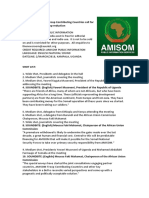 Somalia and Troop Contributing Countries call for a halt to AMISOM troop reduction