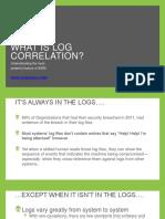 AlienVault What is Log Correlation Whitepaper