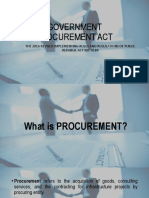 Government Procurement Act Report