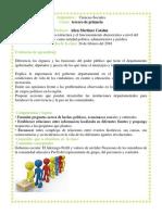 funcionamiento democratico  del departamento y municipio