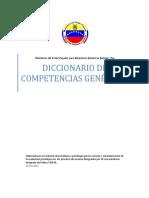 Diccionario de Compotencias de La Función Policial