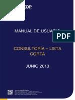 Manual Lista Corta