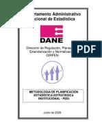 Metodologia PEE Institucional 2009