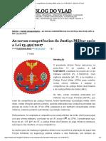 As Novas Competências Da Justiça Militar Após a Lei 13.491_2017
