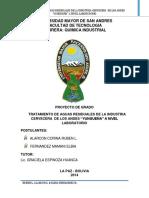 TRATAMIENTO DE AGUAS RESIDUALES DE LA INDUSTRIA  CERVECERA