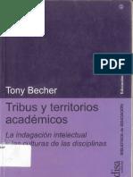 Tribus y Territorios Académicos - Tony Becher